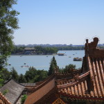 Taken from the top of the  Summer Palace, the complex includes this large lake and its shores.