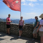 Taken from the top of one of the very steep segments of the Great Wall.