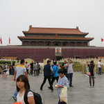 The front gate of the Forbidden City, taken from Tianamen Square.