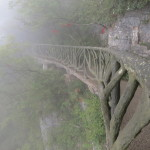 Tianmen Mountain, the path is constructed overhanging the cliff face.