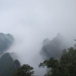 Misty mountains at Tianmen Mountain