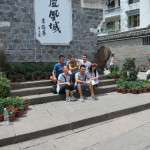 Fenghuang Miao village, with some friends I made along the way