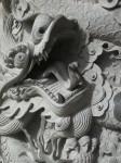 Pillar carving at Po Lin Monastery